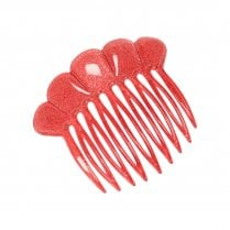 Pico French Fan Hair Comb - Salmon