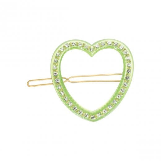 Pico Heart Diamond Hair Pin - Green