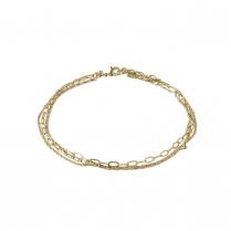 Pilgrim Ankle Chain Gold Plated Bracelet