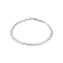 Pilgrim Ankle Chain Silver Plated Bracelet