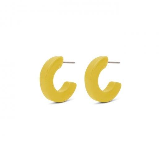 Pilgrim Coro Yellow Earrings