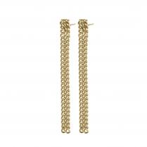 Pilgrim Gudrun Gold Plated Multi Chain Earrings
