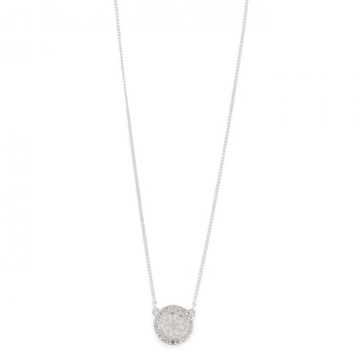 Pilgrim Henrietta Silver Plated Necklace - Crystal