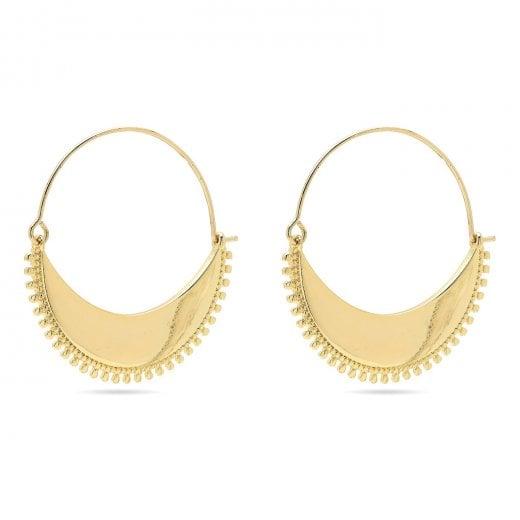Pilgrim Kiku Gold Plated Earrings
