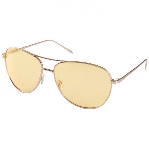 Pilgrim Nani Gold Plated Sunglasses - Yellow