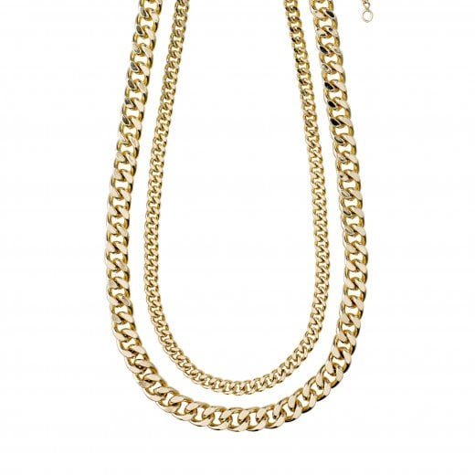 Pilgrim Water Necklace 2 Chains-Gold Plated
