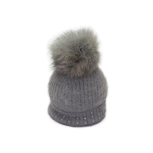 Pom Pom Poodle Jessie Hat - Grey