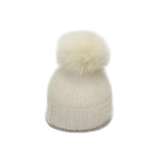 Pom Pom Poodle Jessie Hat - White