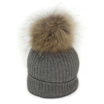 Pom Pom Poodle Maddie Hat - Grey