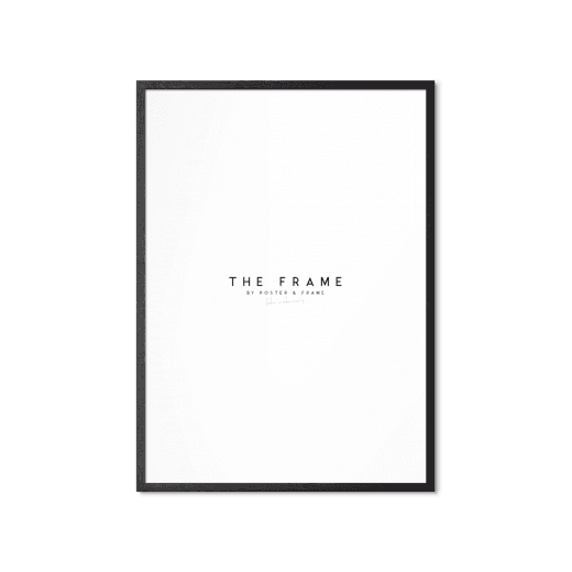 Poster & Frame Black Oak A3  (Local Delivery Only)