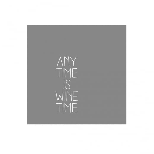 "Räder ""ANY TIME IS WINE TIME"" Napkin"