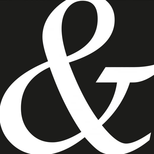 Räder Black Napkin With White Ampersand