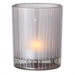 Räder Glass Striped Tealight Holder