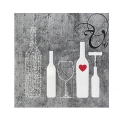 Räder Wine Napkin With Pattern