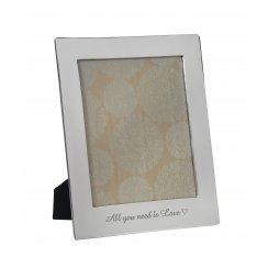 """Retreat Photo frame Nickel """"ALL YOU NEED IS LOVE"""" 8x10"""" aperture"""