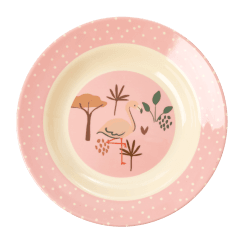 Rice Kids Bowl with Pink Jungle Print