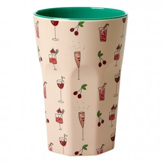 Rice Large Melamine Cup - Pink Cocktail Print