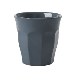 Rice Medium Melamine Cup in Dark Grey