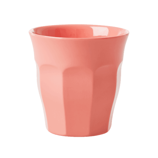 Rice Medium Melamine Cup in True Coral