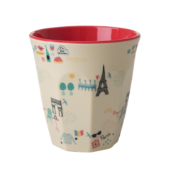 Rice Medium Melamine Cup With Paris Print