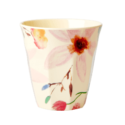 Rice Medium Melamine Cup with Selmas Flower Print