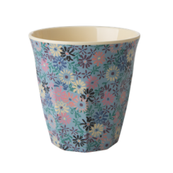 Rice Medium Melamine Cup With Small Flower Print