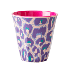 Rice Medium Melamine Cup with Two Tone Leopard Print