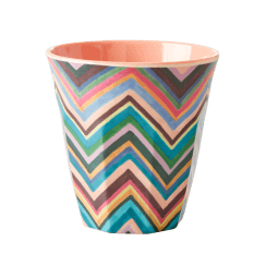 Rice Medium Melamine Cup with Zig Zag Pattern