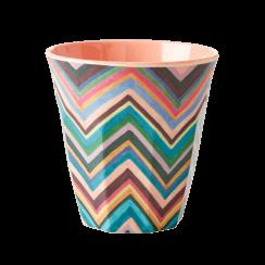 Rice Medium Melamine Cup with Zig Zag Pattern