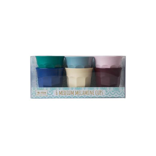 Rice Medium Melamine Cups In Urban Colours