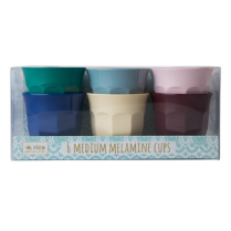 Rice Medium Melamine Cups in Urban Colours