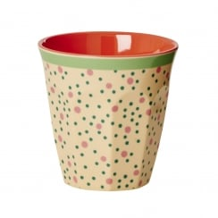 Rice Medium Two Tone Melamine Cup With Connecting The Dots Print