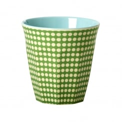Rice Medium Two Tone Melamine Cup With Dot Print