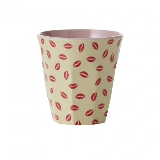 Rice Medium Two Tone Melamine Cup With Kiss Print