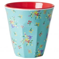 Rice Medium Two Tone Melamine Cup With Mini Floral Print