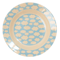 Rice Melamine Kids Bowl - Cloud Print