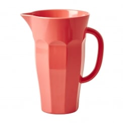 Rice Melamine Pitcher Jug In Coral