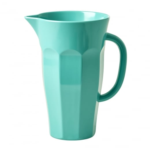 Rice Melamine Pitcher Jug In Dusty Green