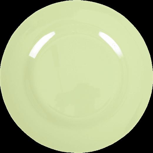 Rice Melamine Round Dinner Plate Coloured in Mint