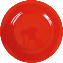 Rice Melamine Round Dinner Plate - Red