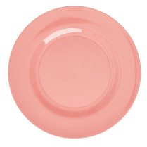 Rice Melamine Round Dinner Plate - True Coral