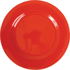 Rice Melamine Round Side Plate - Red