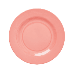 Rice Melamine Round Side Plate - True Coral