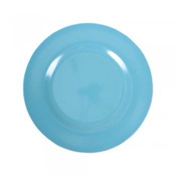 Rice Melamine Round Side Plate – Turquoise