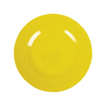 Rice Melamine Round Side Plate – Yellow