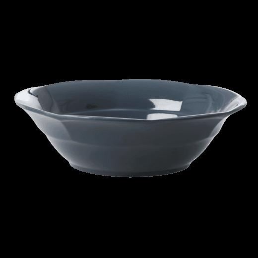 Rice Melamine Soup Bowl in Dark Grey