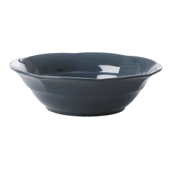 Rice Melamine Soup Bowl in Dark Grey