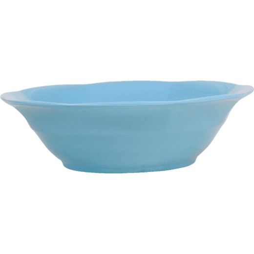 Rice Melamine Soup Bowl in Turquoise