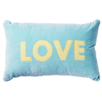 Rice Rectangular Cushion with Love Applique