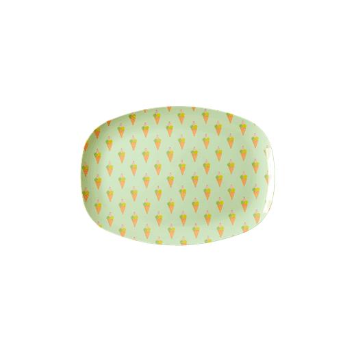 Rice Rectangular Melamine Plate Ice Cream